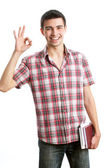Man showing ok sign — Stock Photo