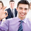 Businessman showing ok sign — Stock Photo #44835161