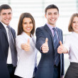 Business people showing thumb up — Stock Photo