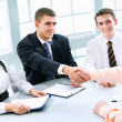 Business partners making agreement — Stock Photo