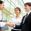 Partners making agreement — Stock Photo #44869153