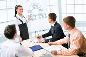 Business woman presenting  ideas — Stock Photo