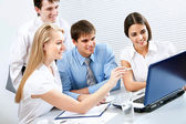 Business people discussing project — Stock Photo