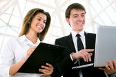 Young business people — Stock Photo