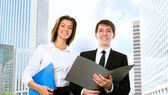 Happy business people — Stok fotoğraf