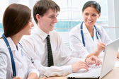 Medical team at office — Stock Photo