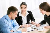Business-Team beim Treffen — Stockfoto