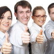 Business people giving the thumbs-up — Stock Photo #44882281