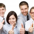 Business people giving the thumbs-up — Stock Photo #44882537