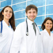 Happy young doctors — Stock Photo