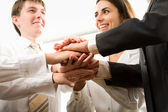 Business people hands — Stock Photo