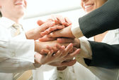 Business people hands — Stok fotoğraf