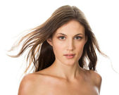 Woman with bared shoulders — Stock Photo