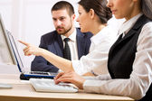 Businesspeople in office — Stock Photo