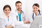 Smiling doctors — Stock Photo