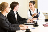 Business people discuss project — Stock Photo
