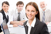 Businesswoman and colleagues — Foto Stock