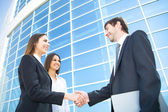 Businesspeople shake hands — Foto Stock