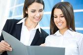Young modern businesswomen  — Stock Photo