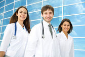Happy young doctors  — Stockfoto