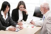 Businesspeople working — Stock Photo