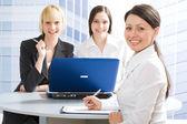 Happy businesswomen — Stock Photo