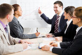 Les gens d'affaires à la réunion — Photo