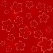 Seamless floral pattern in red hues — Stock Vector