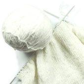Knitting with spokes — Stock Photo