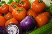 Cerca de varios colores vegetales crudos — Foto de Stock