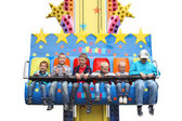 MINSK - JUNE 01, 2014 - Amusement park: Happy kids at the amusement park. Children s Day. — Stock Photo