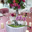 Still life wedding. Table setting at a wedding reception. Decor — Stock Photo #51540545