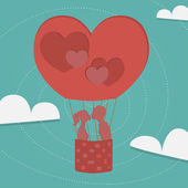 Balloon Of Love — Stock Vector