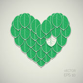Leaf Heart — Stock Vector