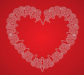 Lace Heart — Vettoriale Stock