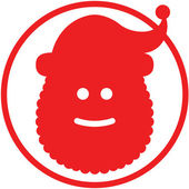 Red Santa Claus — Stock Vector