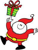 Nice Santa Claus — Stock Vector