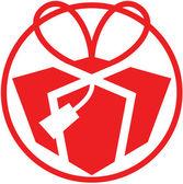Rot weihnachten geschenk avatar — Stockvektor