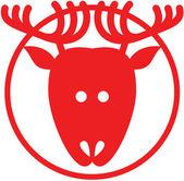 Christmas reindeer avatar — Stock Vector