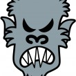 Постер, плакат: Scary werewolf
