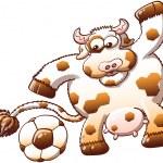 Постер, плакат: Chubby and furry cow