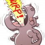 Hippopotamus rising his head — Stock Vector #44807671