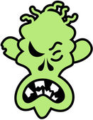 Scary green zombie — Stock vektor