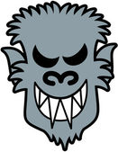 Scary werewolf with sharpen teeth — Vettoriale Stock