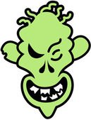 Scary green zombie — Stockvector