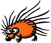 Orange prickly hedgehog — Stock Vector