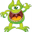 Enthusiastic funny monster — Stock Vector #46033331