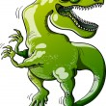 Tyrannosaurus Rex laughing — Stock Vector #46033403