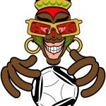 Постер, плакат: African with soccer ball