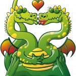 Double headed dragon — Stock Vector #46034029